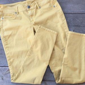 🍁Maurice's Mustard Yellow Skinny Jeans